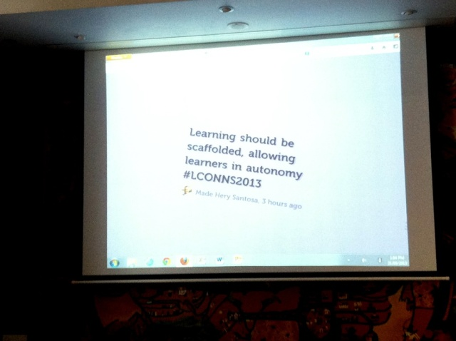 A live tweet of mine shown at the Conference