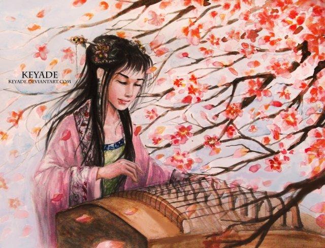 Girl with Guzheng from http://keyade.deviantart.com/art/Girl-with-Guzheng-281915499