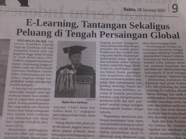 Orasi Ilmiah Made Hery Santosa, PhD-Pos Bali